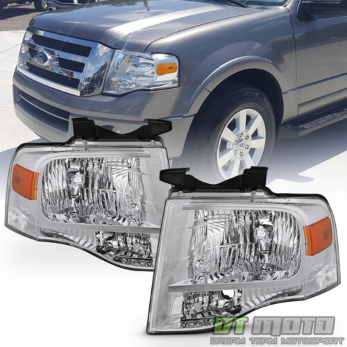 For 2007-2014 Ford Expedition Headlights Left+Right 07-14 Replacement Headlamps <br/> Limited Life Time Warranty,free return,SAE DOT approved