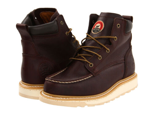 """RED WING Mens Irish Setter 6"""" Wedge Soft Toe Work Boots Brown Leather 83605"""