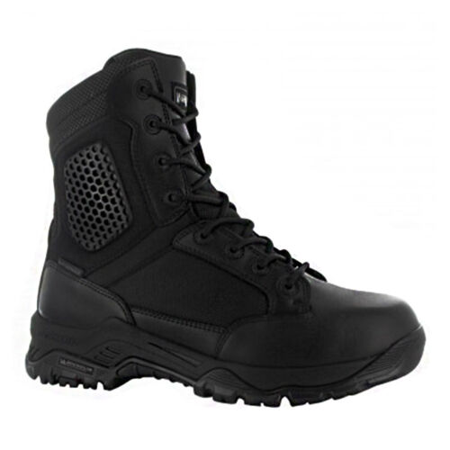 "Magnum Mens 8"" Strike Force WP Black Side Zip Waterproof Tactical Police Boots"