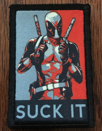 Deadpool Suck It Morale Patch Tactical ARMY Hook Military USA Badge FlagArmy - 48824