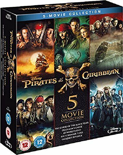 PIRATES OF THE CARIBBEAN 5 Movie Collection BLU RAY 5 DISC BOXSET 1-5 New/Sealed