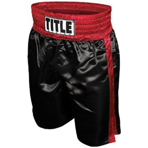 Title Professional Boxing Trunks - Black/Red <br/> Exclusive Seller of TITLE Boxing on eBay