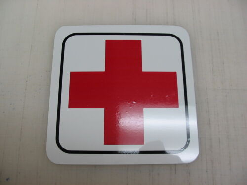 RED CROSS Metal Sign 4 Army Marine Military Reenactor Hospital First Aid BoxOther Militaria - 135