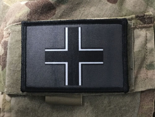 WWII Iron Cross Morale Patch Tactical ARMY Hook Military USA Badge FlagArmy - 48824