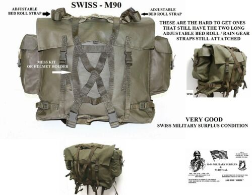 Military Backpack w// Extra Combat Harness Czechoslovakia People Army Surplus