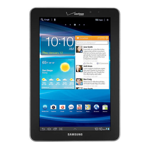 Samsung Galaxy Tab SCH-I815 16GB 4G Verizon 7.7in Light Silver Tablet A-Grade