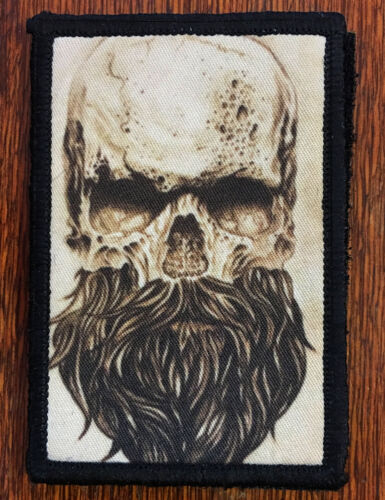 Skull Beard Morale Patch Tactical ARMY Hook Military USA Badge Flag Seals DevgruArmy - 48824