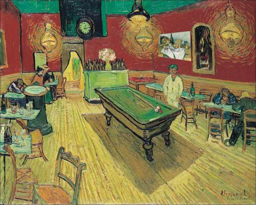 Vincent Van Gogh Night Cafe Fine Art Giclee Canvas Print