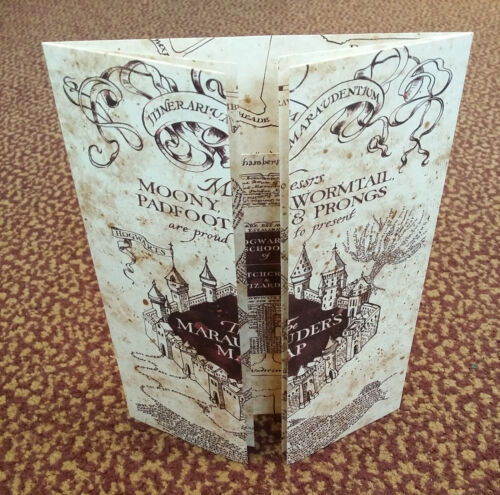 The Marauder's Map Hogwarts School of Witchcraft & Wizardry - Harry Potter, NEW! <br/> Limited Edition - Direct from Warner Brothers Studios