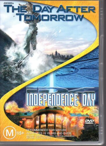 THE DAY AFTER TOMORROW / INDEPENDENCE DAY - 2 DVD SET (2005) VG - FREE POST