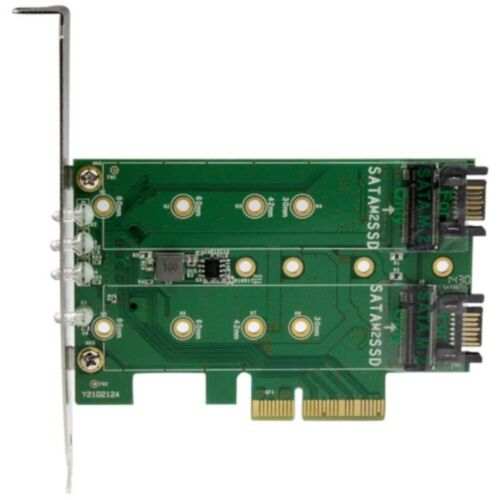 StarTech 3-Port M.2 SSD (NGFF) to PCIe 3.0 Adapter Card PEXM2SAT32N1