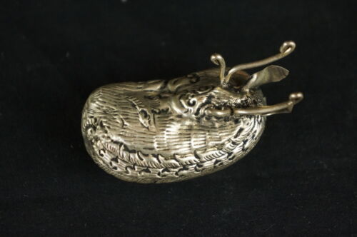 """Excellent old chinese silver ? animal figural box 2"""" [Y8-W6-A9]"""