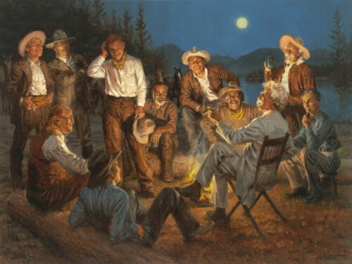 Andy Thomas American Storytellers Signed Print 15 x 11