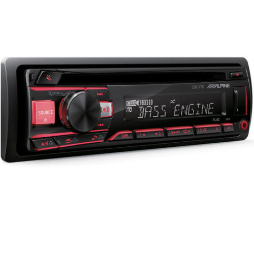 ALPINE CDE-170 CAR STEREO CD MP3 USB AUX EQUALIZER 200W RMS AMPLIFIER RADIO NEW