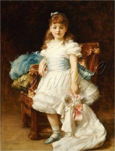 ANTIQUE CHRISTENING DOLL GIRL CHILD VINTAGE REPRODUCTION CANVAS ART PRINT LARGE