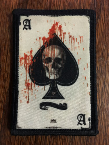 Ace of Spades Death Card Morale Patch Tactical ARMY Hook Military USA Badge FlagArmy - 48824