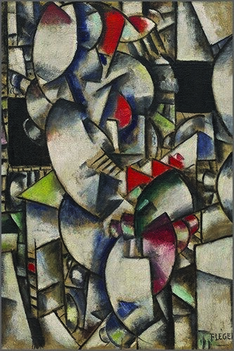 Fernand Leger, 1912-13, Nude Model in the Studio Painting Poster 24x36