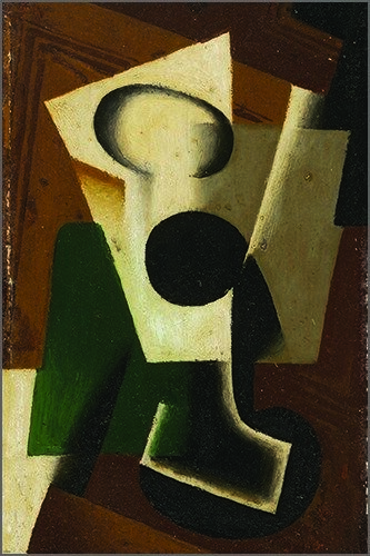 Juan Gris - Still Life with a Glass Poster 24x36 Cubism Painting