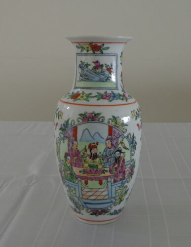 Chinese Porcelain Vase Qing Dynasty Daoguang Period Famille Rose Hand Painted