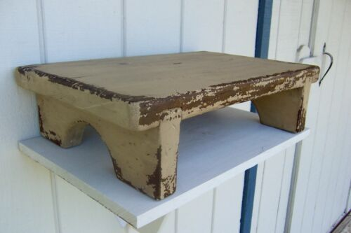 PRIMITIVE RUSTIC PAINTED PINE COUNTRY FARM TABLE TOP RISER FARMHOUSE BENCH WOOD