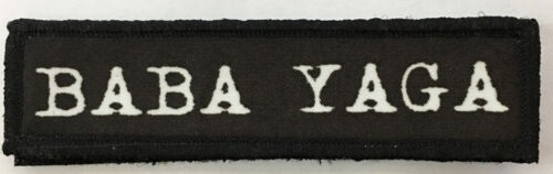 1x4 Baba Yaga Morale Patch Tactical Military Army Flag USAArmy - 48824