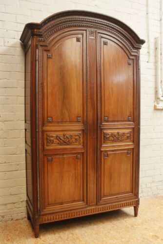 1112052 : Large Antique French Louis XVI Style 2 Door Armoire Wardrobe