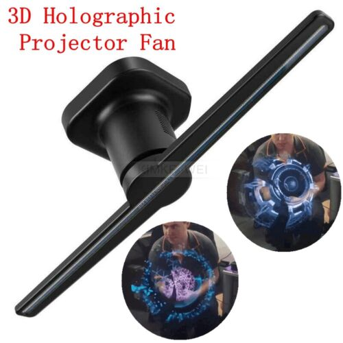3D Holographic Projector Display 42CM Fan Hologram LED Naked Eye Advertising New