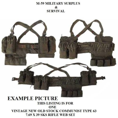 Genuine Vintage ChiCom Type 63 SKS 7.62X39 Chest Rig - Green - New Old Stock Personal, Field Gear - 36065