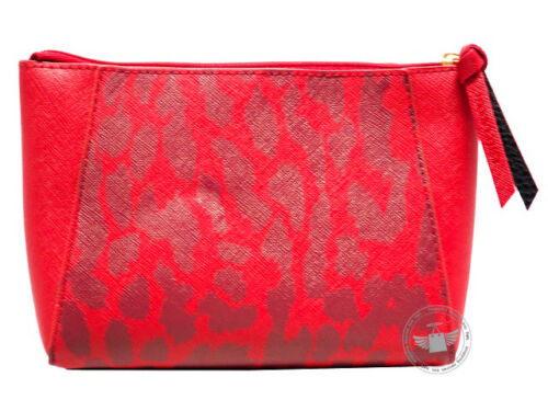 **New*** Estee Lauder Red Ruby Leather Cosmetic Pouch