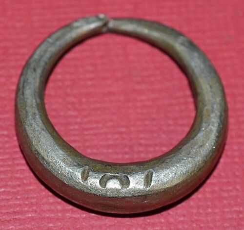 Antique African Tuareg Ethnic Metal Tribal Ring From Niger Africa Ring Size 8.75