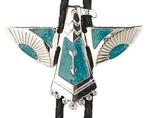 NEW! Western Turquoise Thunderbird Bolo Tie *MADE IN THE USA*