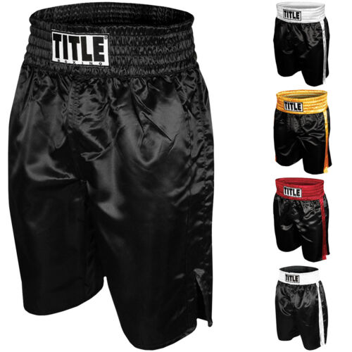 Title Boxing Youth Professional Satin Boxing Trunks <br/> Exclusive Seller of TITLE Boxing on eBay