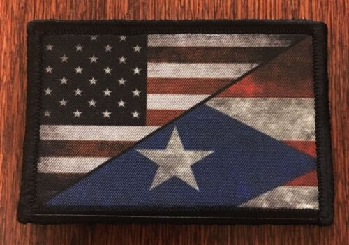 USA Puerto Rico Flag Morale Patch Military Tactical Army Badge Hook TabArmy - 48824