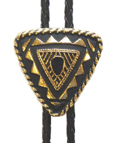 New! Western Triangular Bolo Tie Gold Plated Made in the USA