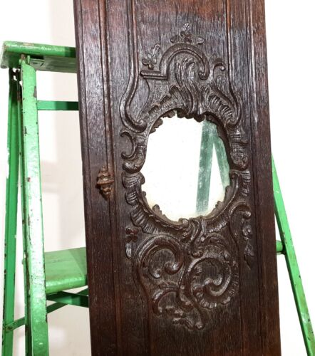 CLOCK TIMEPIECE PANEL DOOR Antique french carved wood baroque louis XV carving