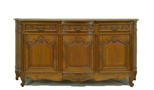 Large Oak French Country Sideboard Cabinet With Bombay Sides Cabinet