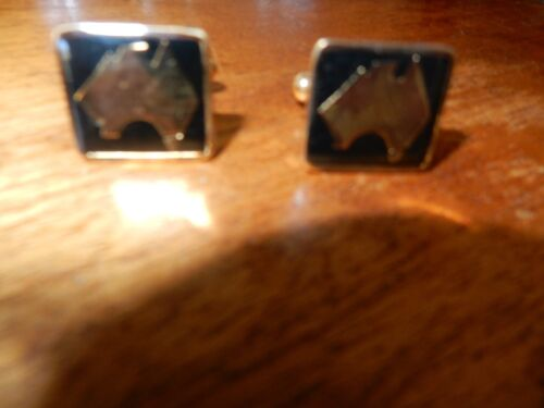 John Deer 24 CT Gold Plated Cuff Links NEW FREE POST