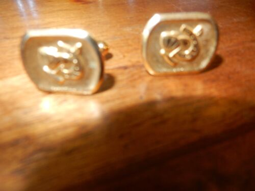 Gold Colour Polo Themed  Cuff Links NEW FREE POST