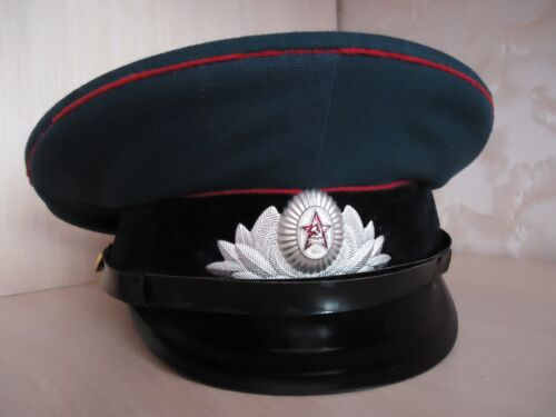 37.12 CAD -- Soviet Officer s Visor Cap w Black Velvet Band   RARE White  BADGE marked 1974Original 64493f523d74