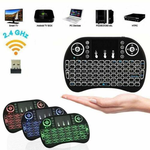 i8 2.4Ghz Mini Wireless Keyboard Remote Controls Touchpad Black for Smart TV PC
