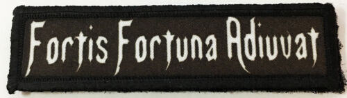 1x4 Fortis Fortuna Adiuvat Morale Patch Tactical Military Army Flag USA WickArmy - 48824