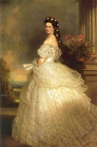 ZWPT647 Empress Elizabeth&Sissy Princess hand painted art oil painting on canvas