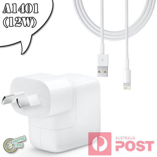 "100% Original Genuine Apple iPad Pro 12.9"" 2017 AC WALL CHARGER Lightning Cable"