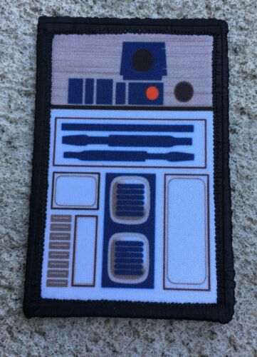 """Star Wars R2D2 2x3"""" Morale Patch Funny Tactical Military USA  Army Army - 48824"""