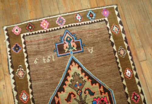 Vintage Trendy Turkish Kurdish Kars Rug Dated 1979 Size 2'10''x4'5''