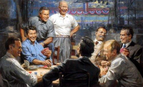 Grand Ol' Gang Republican Presidents  Art Print By Signed Andy Thomas