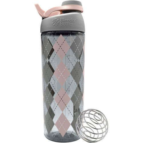 Blender Bottle Sleek 28 oz. Twist-On Cap Shaker Bottle with Loop Top - Argyle <br/> Exclusive Seller of Blender Bottle on eBay
