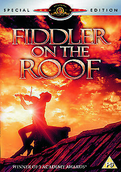 FIDDLER ON THE ROOF (1971) DVD CLASSIC MUSICAL SPECIAL EDITION REGION 4