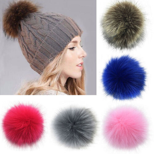 fdc7a5c707b DETACHABLE COLOURED FAUX FUR POM POMS FOR HATS AND CLOTHES