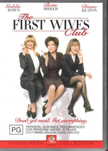 THE FIRST WIVES CLUB - DVD R4 (2002) Goldie Hawn Bette Midler - VG FREE POST